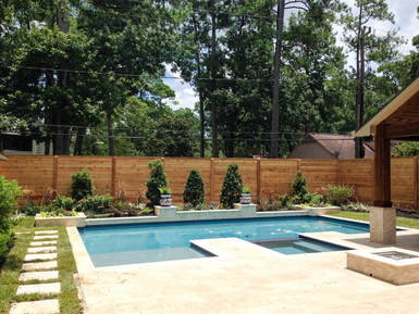 Landscaping Services Pool Landscape Design Houston Spring