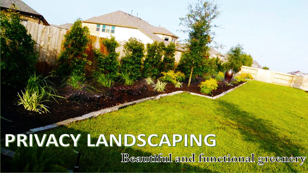 Privacy Landscaping For Suburban Homes. Magnolia Texas Landscaping Services